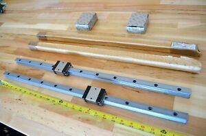 New x2 656mm Rexroth Size20 Linear Lm Rails Bearing Runner Blocks Cnc Thk
