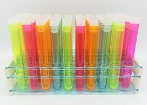 Best Party Test Tube Shots In Fun Assorted Color W Caps Rack Stand 5 50ct