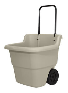 Resin Utility Cart With Wheels Low Small Corner Wagon Modern Plastic Rolling