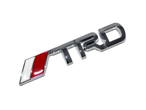 3 75 Silver Chrome Trd Toyota Racing 3d Emblem Decal Trunk Metal Badge Sticker