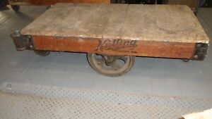 Antique Factory Railroad Cart Nutting 1