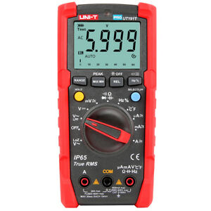 Uni t Ut191t Auto Range Digital Multimeter Frequency Meter Temperature Test Y6u2