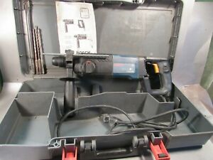 Bosch 11224vsr Bulldog Rotary Hammer Drill With 4 Bits Instruction In Box