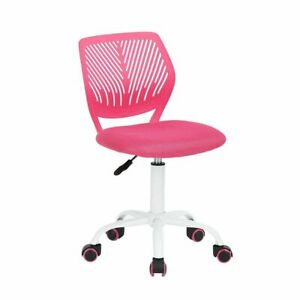 Greenforest Kids Desk Chair Low Back Small Adjustable Office Study Chair Pink