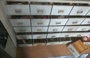 1800 S Apothecary Drug Store 30 Drawer Wooden Cabinet Cupboard Slatebelt Pa