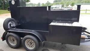 Pitmasters Iron Pig Bbq Smoker Grill Trailer Sink Food Truck Mobile Cate