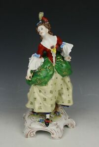 Antique E A Muller Figurine Lady With Fan Worldwide