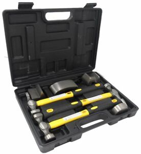 7 Pc Hammer Dolly Auto Body Dent Repair Kit