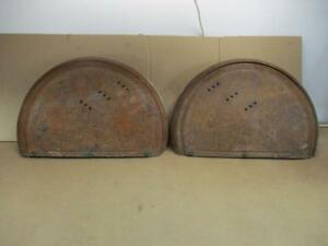 1940 41 Packard Dual Side Mount Spare Tire Covers