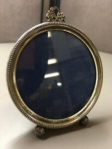 Vintage Sterling Silver Small Round Picture Frame