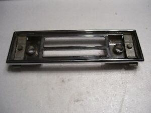 Blaupunkt Radio Face Plate With Mounting Bracket Parts Chrome 60s 70s 80s