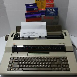 Ta Adler Royal 410 Electric Typewriter Word Processor W cover Made In Germany