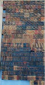 Letterpress Wood Printing Blocks 362pcs 1 06 Tall Alphabet Type Woodtype Rare
