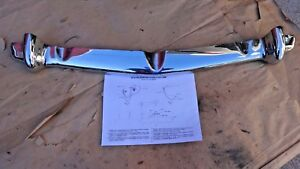 Nos 1953 Chevy Grille Guard Original Chevrolet Accessory Bel Air Cross Bar