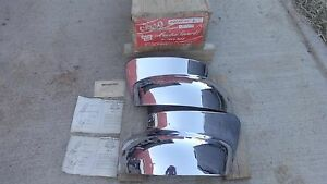Nos Cello 1949 Ford Fender Guards Bumper Wrap Arounds Deluxe Front Rear Custom