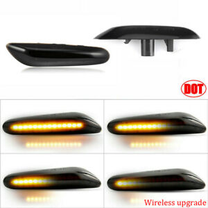 Dynamic Led Side Marker Smoked Turn Signal For Bmw E90 E91 E92 E60 E87 E82 E46