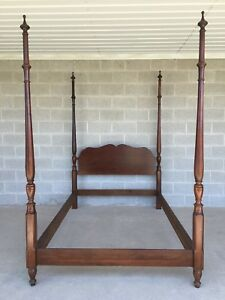 Pennsylvania House Solid Cherry Chippendale Style Full Double Poster Bed