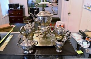 1800 S Singer Halbert 800 Silver 7 Piece Serving Set Tray Over 100 Ounces