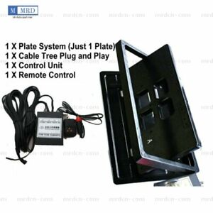 Us Stealth Retractable Car License Plate Changer Switch Bate Flipper Remote Kit