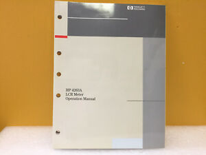 Hp Agilent 04263 90000 4263a Lcr Meter Operation Manual