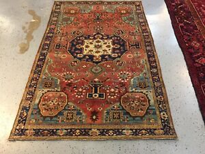 Antique Farahan Sarouk Rug Circa 1910 Carpet 4 3x6 8