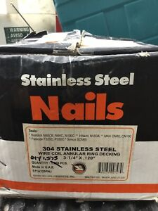 Stainless Steel Nails Wire Coil 304 Qty 1 575 Meas 3 1 4 X 120