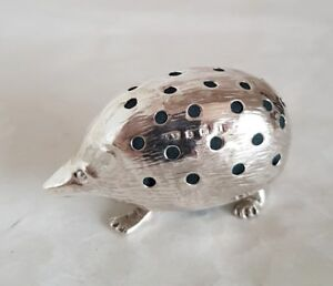 A Sterling Silver Novelty Hedghog Pin Cushion London 1910 By Levi