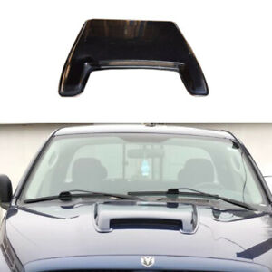 1pcs Ram Style Black Universal Abs Paintable Hood Scoop For Pickup Suv