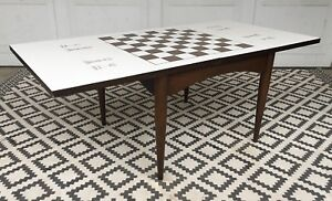 Mcm Vintage Accent Chess Coffee Table Mid Century Modern 1960s Mcm Retro Cool