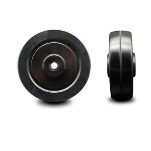 Scc 4 Soft Rubber Wheel Only 3 8 Bore 200 Lbs Capacity