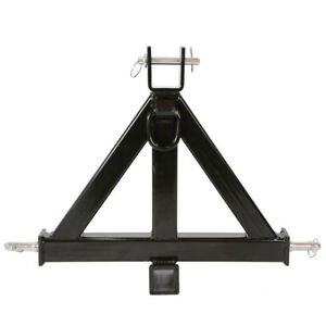 3 Point 2 trailer Hitch Heavy Duty Receiver Category 1 Tractor Tow Drawbar Pull