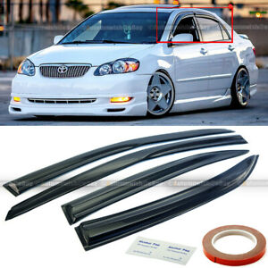 For 03 07 Toyota Corolla Mugen Style 3d Wavy Tinted Window Visor Vent Fits 2004 Corolla