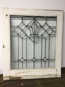 Antique Vintage Leaded Window Clear Glass