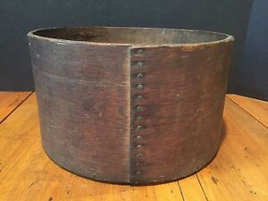 Antique General Store 1 Peck Bent Wooden Dry Measure Grain Seed Flour