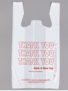 T Shirt Bags 1000 Ct Plastic Grocery Shopping Carry Out Thank You Bag