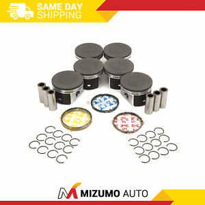 Pistons W Rings std Fit 04 07 Chrysler 300 Pacifica Dodge Charger Magnum 3 5l
