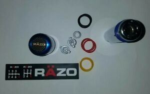 Razo Blue Manual Shift Knob W E Brake Handle Cover Universal Like New