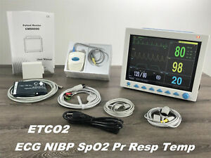 Portable Vital Sign Patient Monitor Multi parameters With Etco2 Capnography New