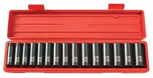 Tekton 1 2 Inch Drive Deep Impact 15 Sockets Set 10 24mm Metric Crv 6 Point 4883