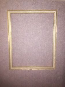Large Antique Gold White Frame For Landscape Or Portrait Painting 31 X 25