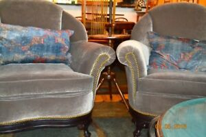Upholstered Arm Chairs Vintage 1930 S Totally Re Upholstered