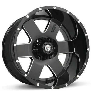 4rims 18 American Truxx Wheels At 155 Armor Black Milled Off Road Ca