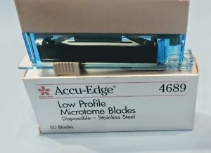 Sakura Finetek Accu edge 4689 Low Profile Microtome Blades Box Of 50 Blades