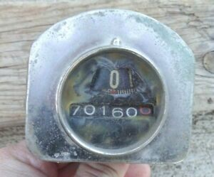 1931 Pontiac Round Speedometer Original Ac Gm Small Black Face Vintage