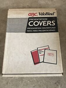Gbc Velobind Transparent Plastic Binding Clear 100 Covers 2000036 Nos