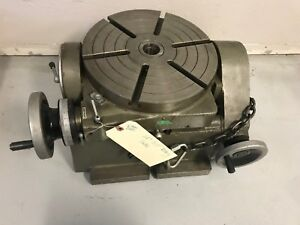 12 Rotary Table 360 Degree Graduations 0 90 Tilt China Unknown Brand