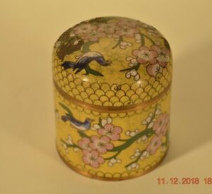 Chinese Antique Cloisonne Tea Jar Late 19th Early 20th Century