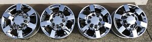 18 Gmc Chevy 2500 3500 Hd Oem Factory Wheels Rims Chrome Denali Caps 2018 A