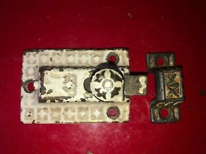 Vintage Sargent Ornate Cupboard Latch Cast Brass Knob Old Rustic 3 X 1 3 8