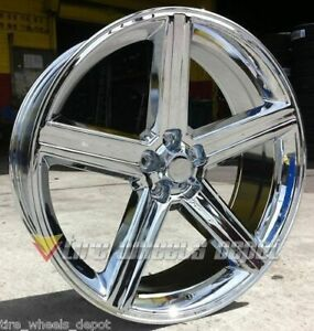 22 Inch Iroc Chrome Wheels And Tires Rwd Dodge Charger 5x115